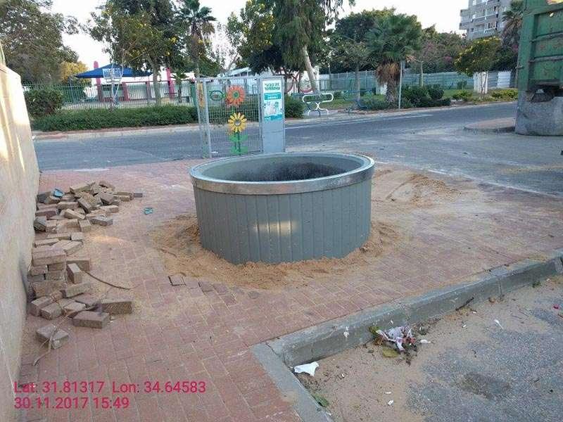 התקנת מיכל שקוע קרקע באשדוד 30.11.2017
